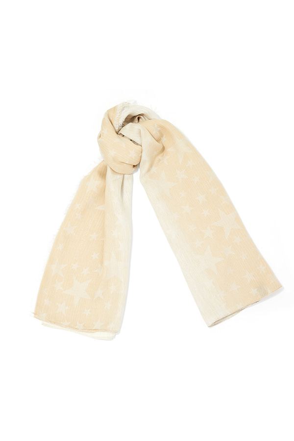 Two-tone Gradation Star Scarf_BE