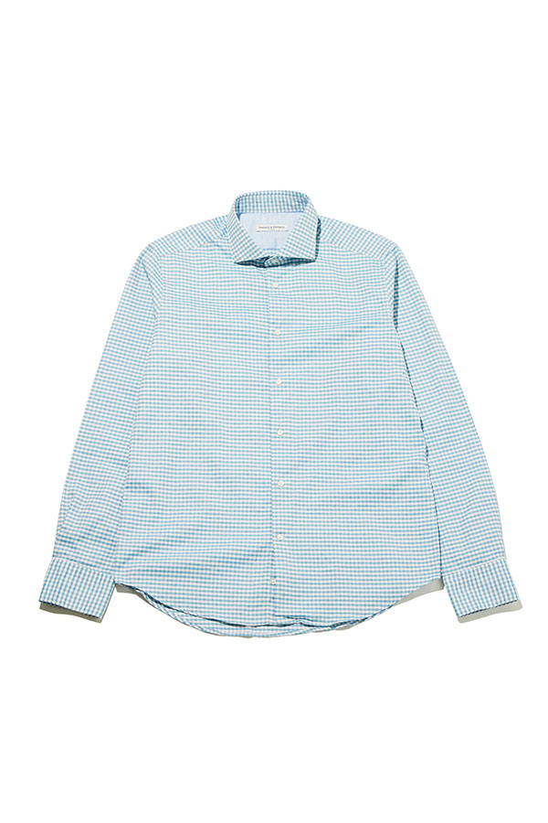 Square Pattern Slim-fit Shirts _GR